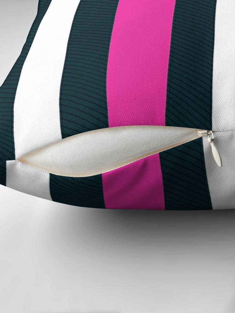 Alternate view of Pink White Vertical Pattern Stripes Floor Pillow