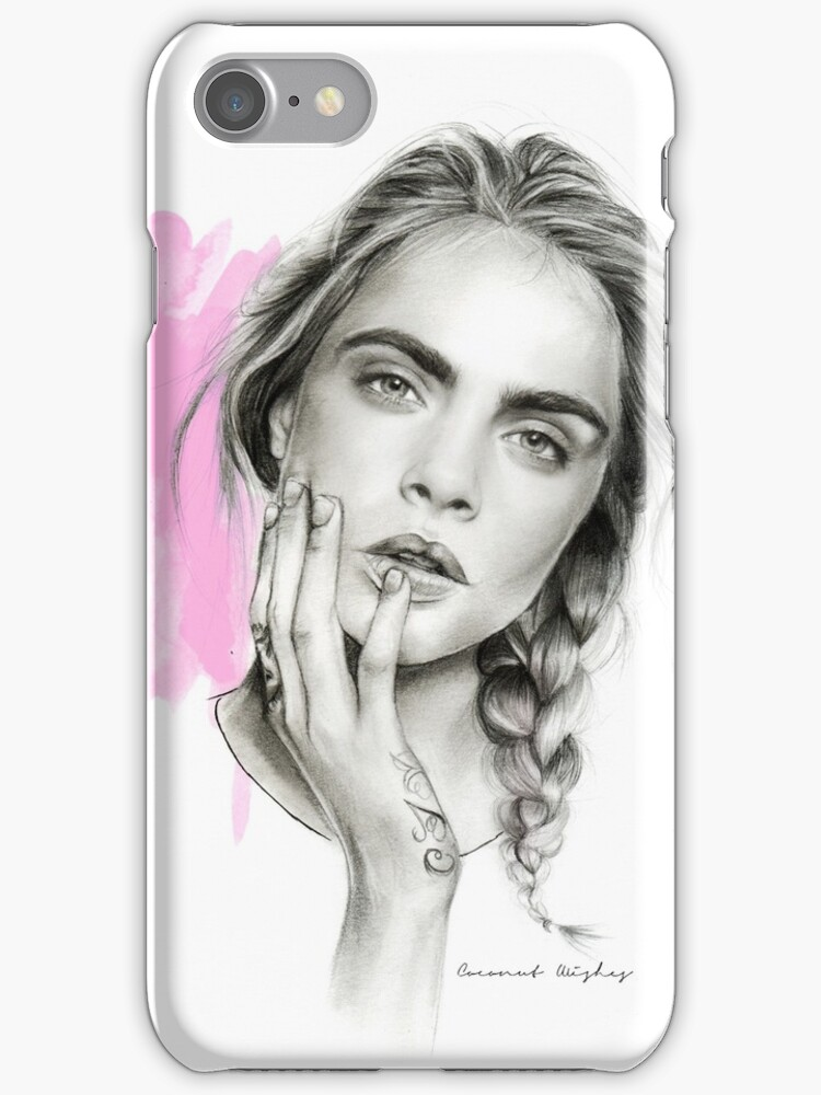"""""""Cara Delevingne"""" iPhone Cases & Skins by coconutwishes ..."""