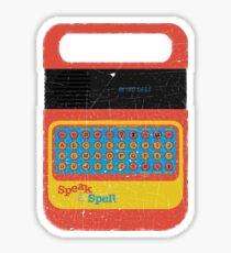 Vintage Look Speak & Spell Retro Geek Gadget Sticker