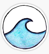 Pegatina onda azul del círculo