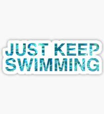Pegatina Solo sigue nadando
