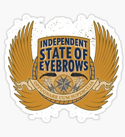 Independent State Of Eyebrows Sticker