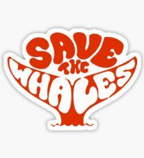 Pegatina Salven a las ballenas