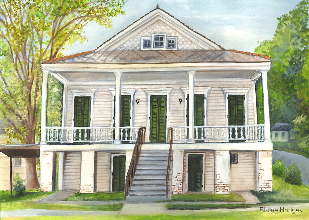 Louisiana Historic District Home by Elaine Hodges