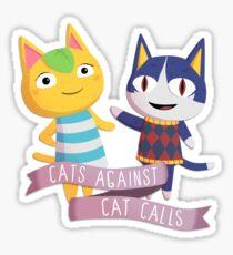 Pegatina Gatos cruzando animales contra las llamadas de gato