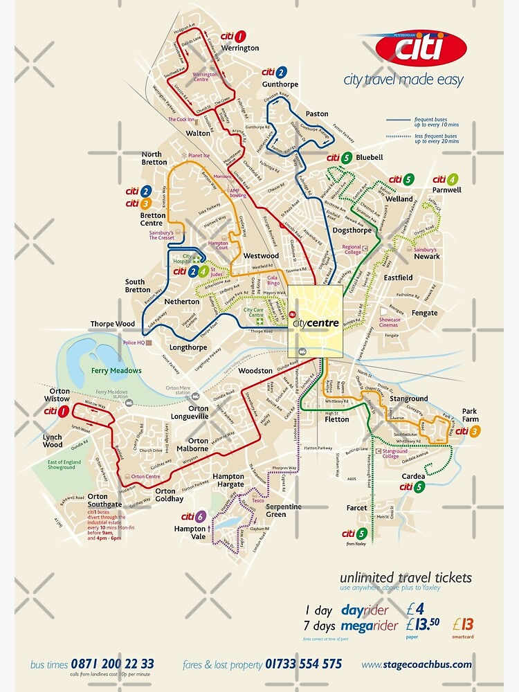 Map Of Uk Hd.Peterborough City Network Map England Uk Hd Poster