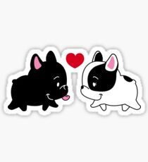 Frenchies in Love Sticker