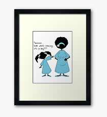 Look who's coming... (boy) Framed Print