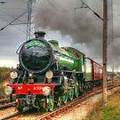 Mayflower Steam Train 1950s by Peter Barrett
