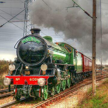 Mayflower Steam Train 1950s by hartrockets