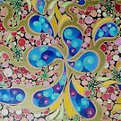 Psychedelic Blue Paisley  by nexus7