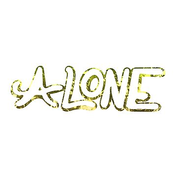 Copy of Copy of Alone Typography by warddt