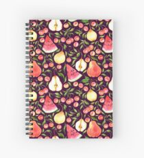 Watercolor fruits Spiral Notebook