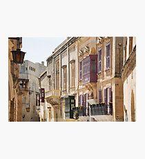 Malta: Balconies in Mdina Photographic Print