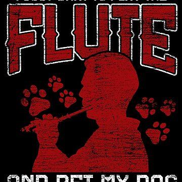 Flute dog by GeschenkIdee