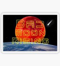 Bad Moon Rising Transparent Sticker