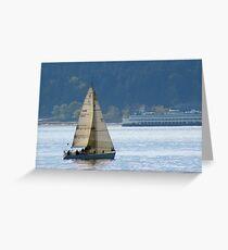 Alki Sailing Greeting Card