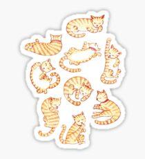 Orange Tabby Cats Sticker