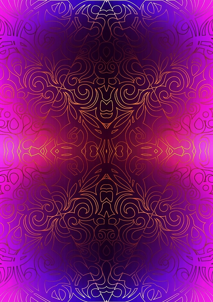 Floral Abstract Damasks by MEDUSA GraphicART