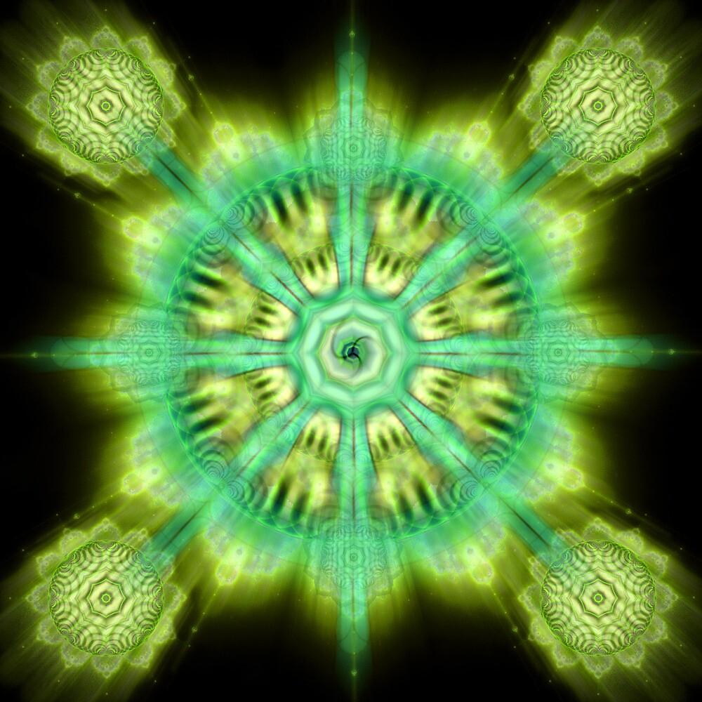 Mandala. The wheel of Dharma by Bill Brouard