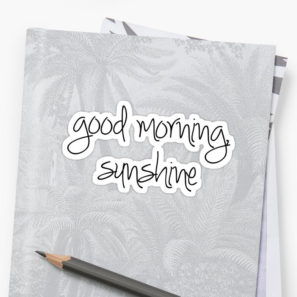 Guten Morgen Sonnenschein Sticker