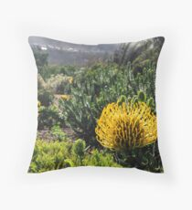 Yellow South African flower Throw Pillow