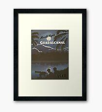 Guadalcanal 1942 - Moonlit Night Travel Poster Framed Print