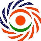 Niger American Multinational Patriot Flag Series by Carbon-Fibre Media