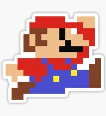 Pegatina 8 bits Mario Nintendo Jumping