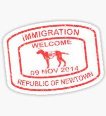 Republic of Newtown - 2014: Sticker Red Sticker