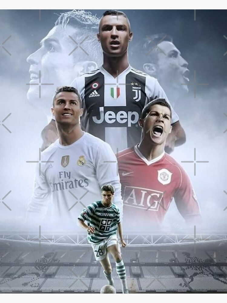 buy online 6065a 7afdb Cristiano Ronaldo: Sporting, Manchester United, Real Madrid & Juventus F.  C.   Photographic Print
