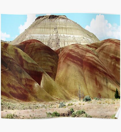 "Carrol Rim rises above ""Painted Hills"" Poster"
