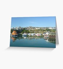 Lifeboat at Ballycotton harbour Greeting Card