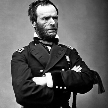 General William T Sherman Black And White by historicalstuff