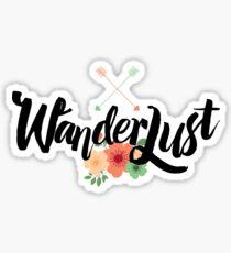 Wanderlust 02 Schriftzug Sticker