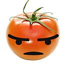 Angry Emoji Tomato Veggie by comfy-core
