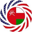 Omani American Multinational Patriot Flag Series by Carbon-Fibre Media