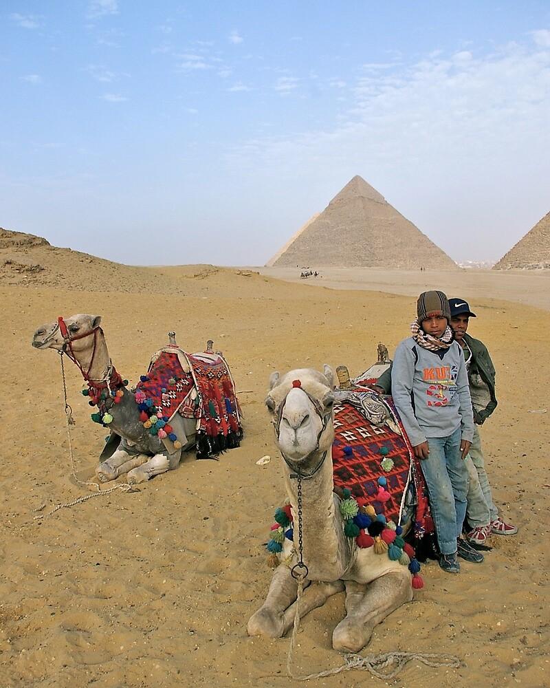 Camel Tour of Giza by Jessica Dzupina