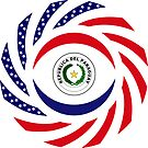 Paraguayan American Multinational Patriot Flag Series by Carbon-Fibre Media