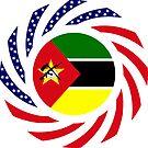 Mozambican American Multinational Patriot Flag Series by Carbon-Fibre Media