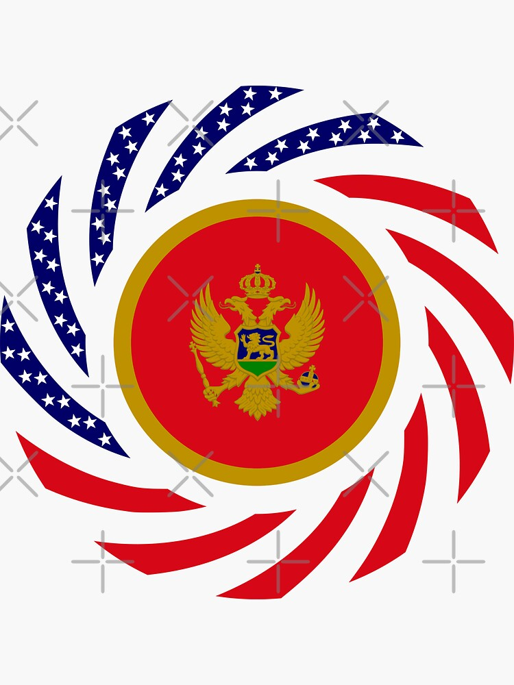 Montenegrin American Multinational Patriot Flag Series by carbonfibreme