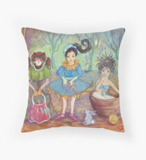 Childhood Memories on Stage Throw Pillow