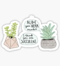 These Puns are Succulent ;) Sticker