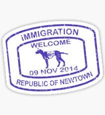Republic of Newtown - 2014 : Sticker Blue Sticker