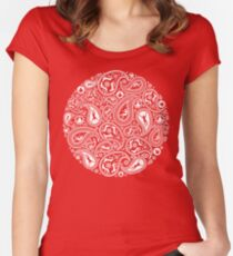 Human Paisley Women's Fitted Scoop T-Shirt