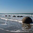 Boulders-Moeraki south island by redkitty