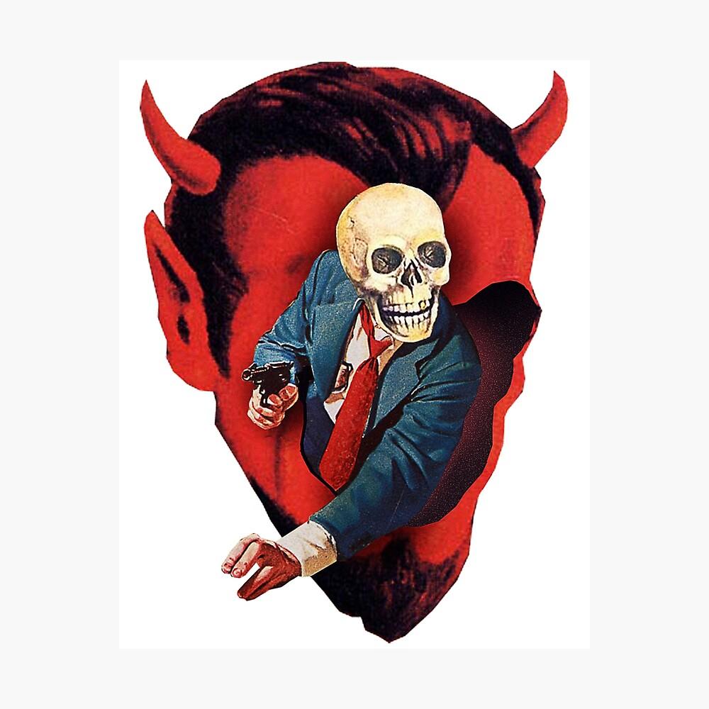 Devilhead Skullman Photographic Print