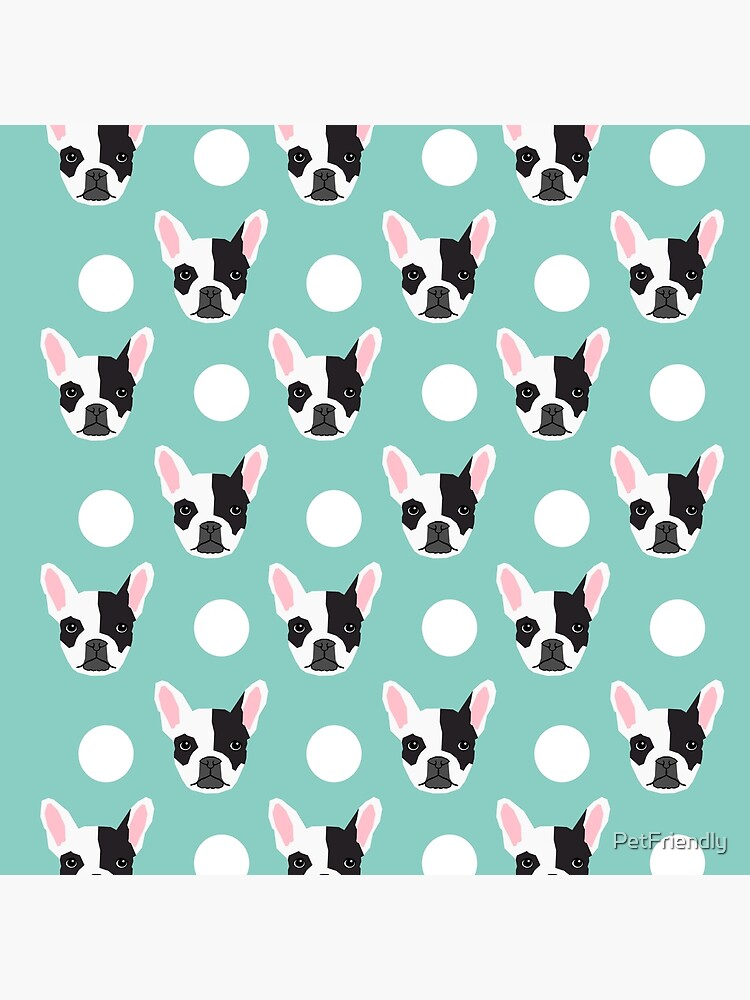 French Bulldog pattern polka dogs dog head funny dog meme cute gift for a dog lover frenchie owner by PetFriendly