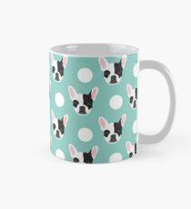 French Bulldog pattern polka dogs dog head funny dog meme cute gift for a dog lover frenchie owner Mug
