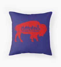 Buffalo NY Roter Büffel Dekokissen